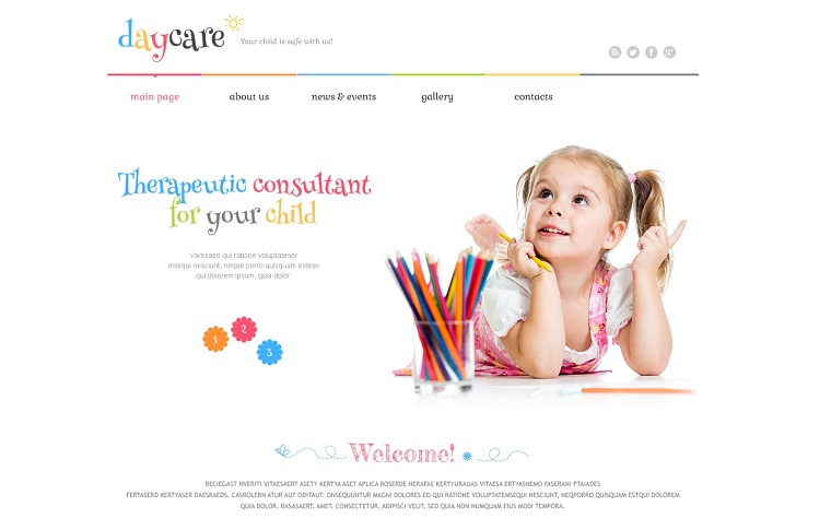Day Care Responsive WordPress Theme.