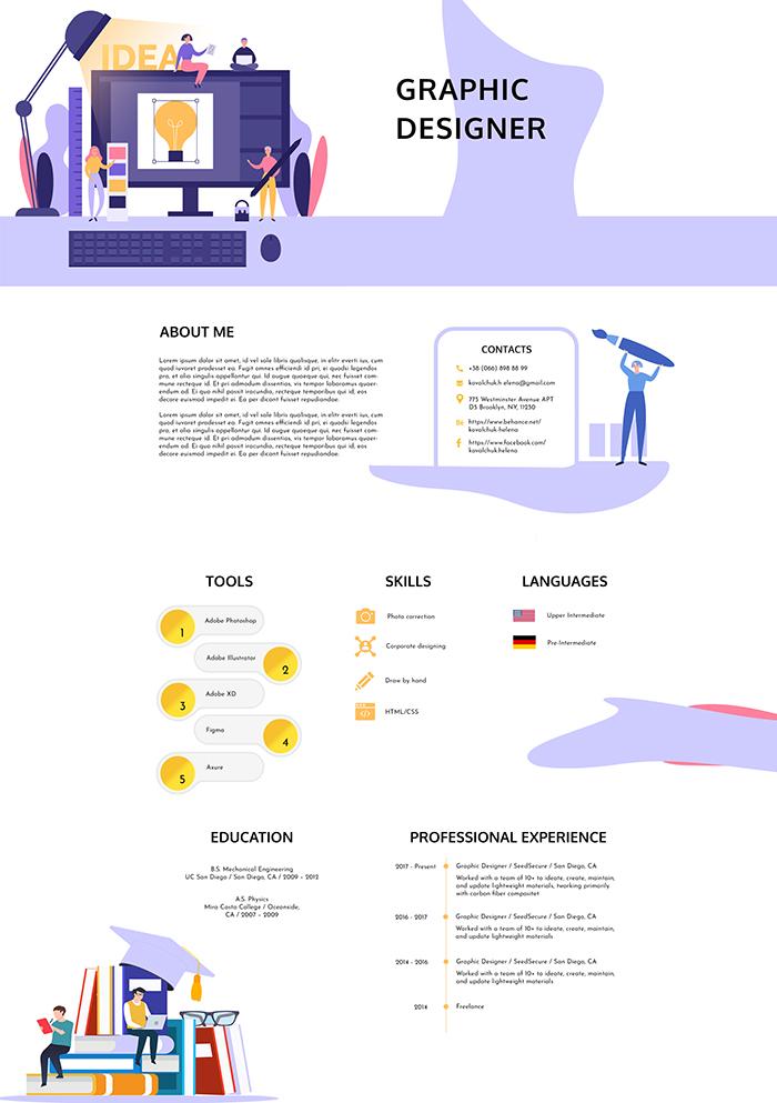 Graphic Designer Resume PSD