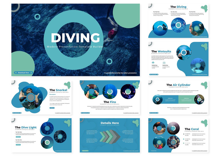 Diving | PowerPoint Template