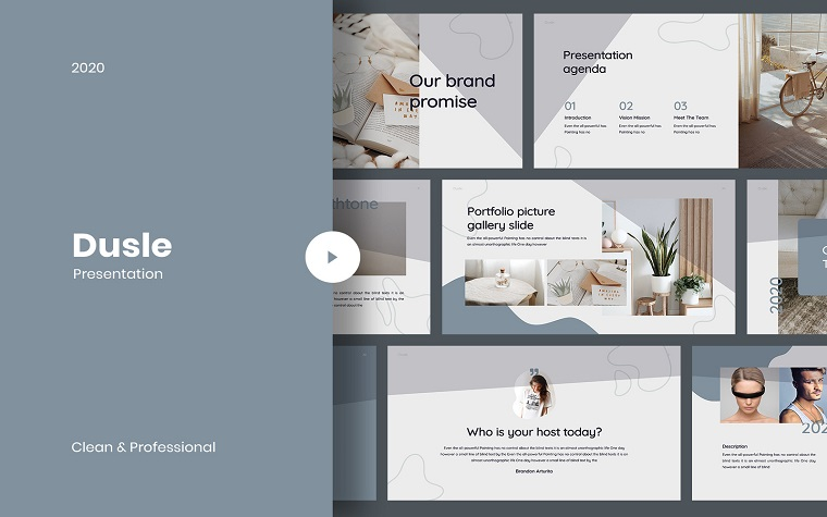 Dusle PowerPoint Template for Better Presentation