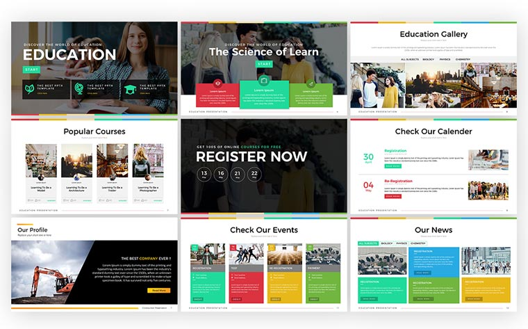 Education - Presentation PowerPoint Template.