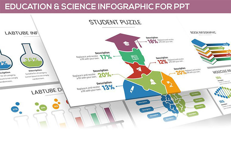 Education & Science Infographic PowerPoint Template