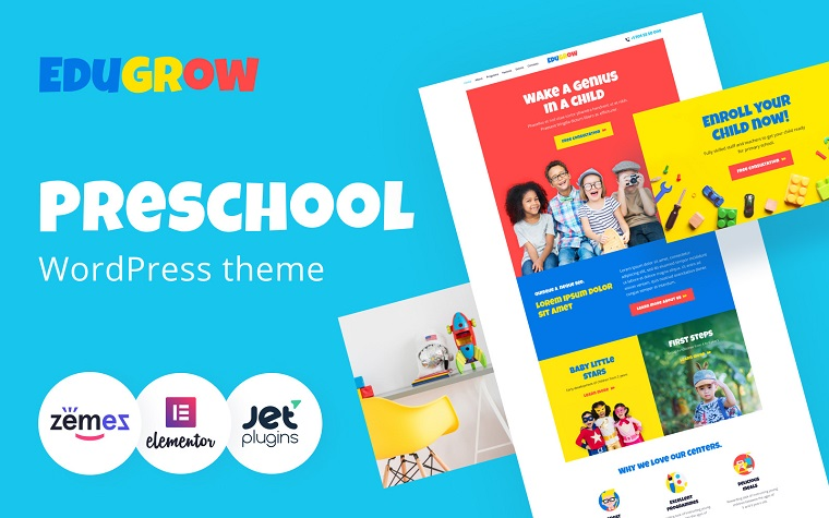 Edugrow - Preschool WordPress Theme with a Vivid Design WordPress Theme.