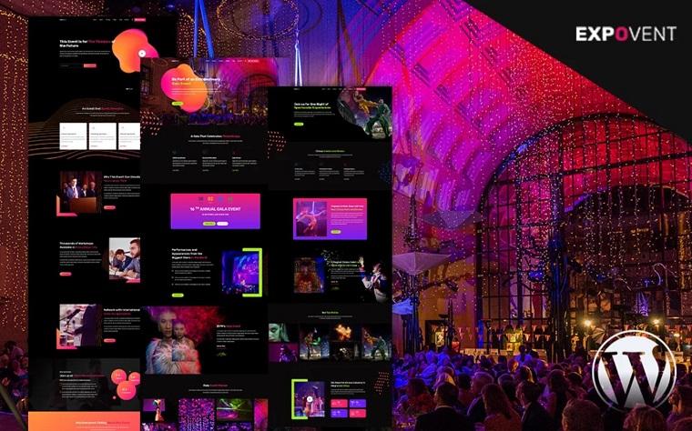 Event Booking & Gala Ticketing | Expovent WordPress Theme.