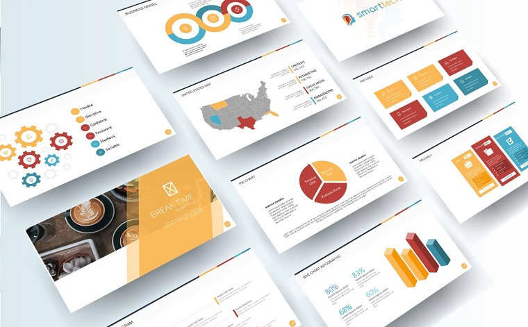 Free Business Plan Presentation PowerPoint Template with Ready Blocks