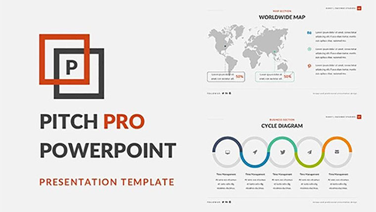 A Free fPowerPoint Template that Provides Original View