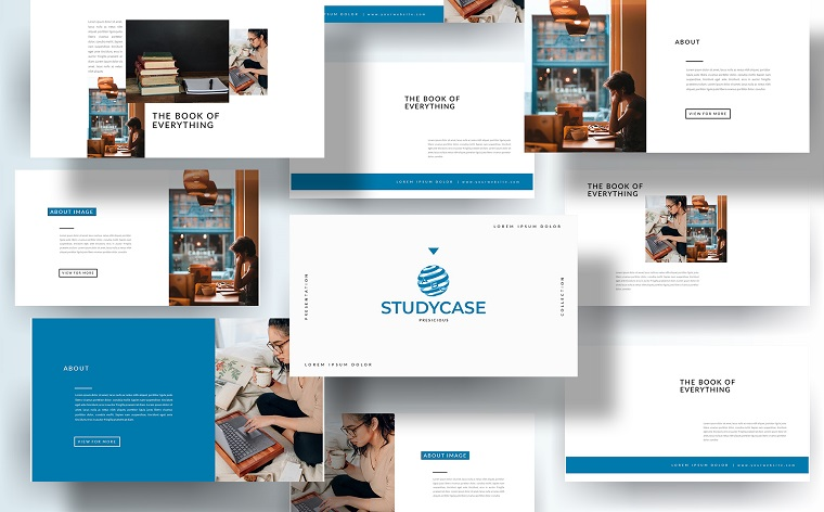 Free Portfolio for Students PowerPoint Template with Original Design