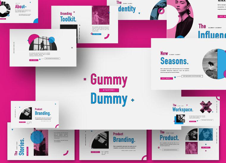 Gummy Dummy Presentation Keynote Template