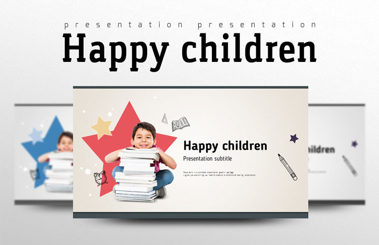 Happy Children PowerPoint Template.