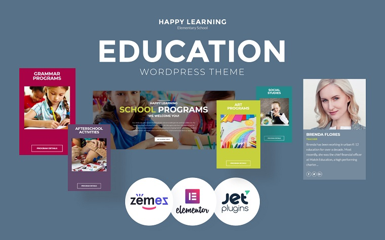 Happy Learning - Education Multipurpose Modern Elementor WordPress Theme.