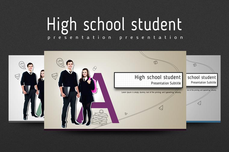 High school student PowerPoint Template.