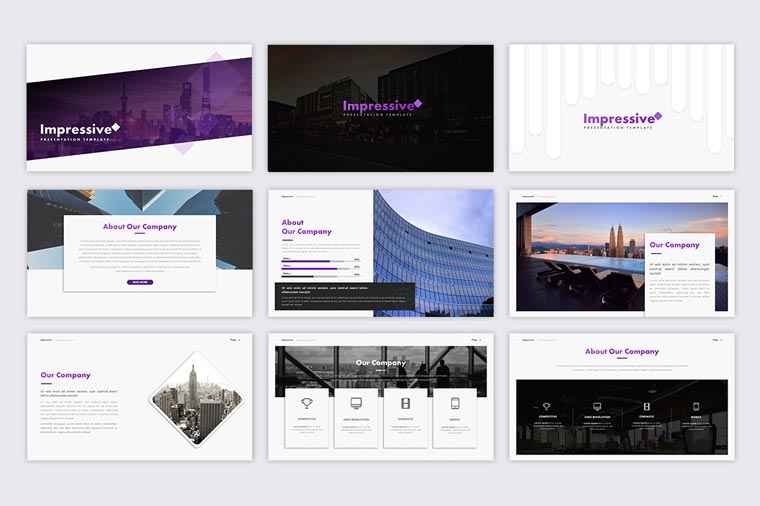 Impressive Presentation PowerPoint Template.