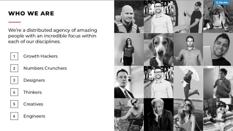 Introduce your agency team.