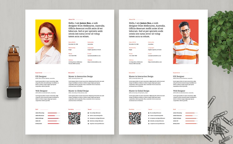 James Boo | Web Designer Professional and Clean Resume Template