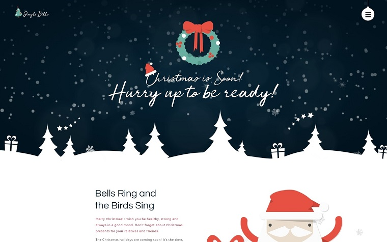 Jingle Bells - Event Making Holiday Party Website WordPress Theme.