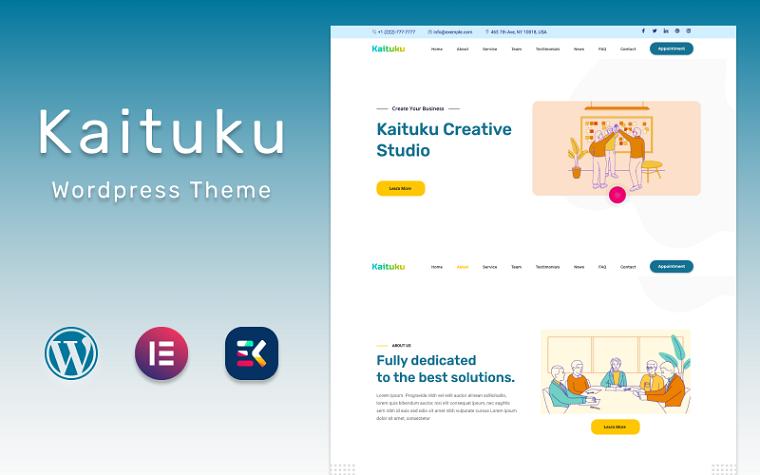 Kaituku | Fast Startup Studio Landing page WordPress Theme