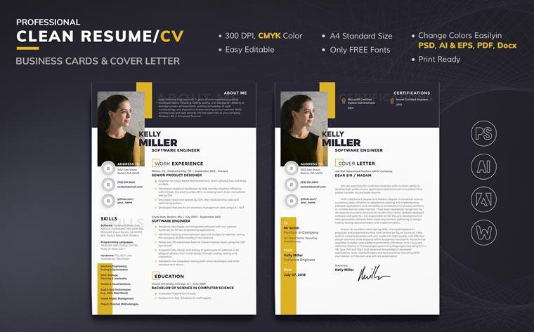 Kelly Miller - Software Engineer Resume Template