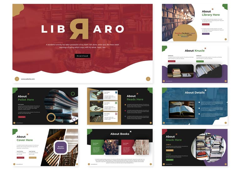 Libraro | PowerPoint Template.