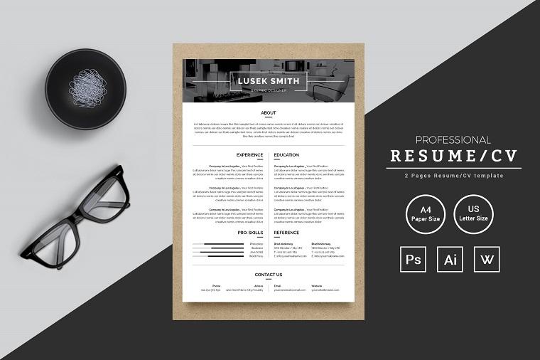 Lusek Smith Graphic Designer Resume Template