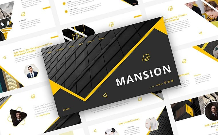 MANSION PowerPoint Template.