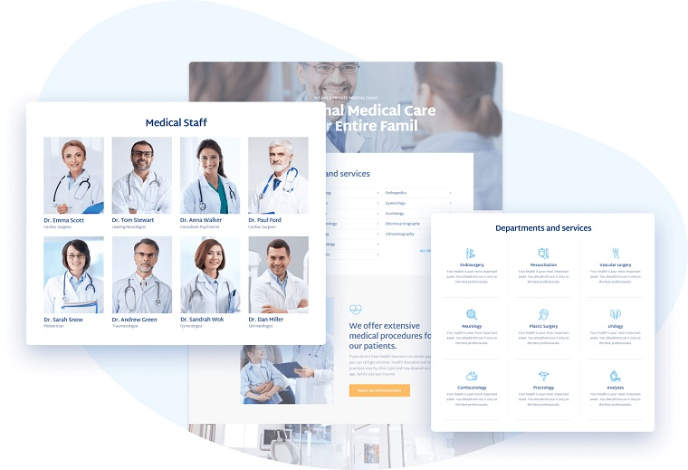 Medcenter – Doctor Appointment Website Template for Elementor