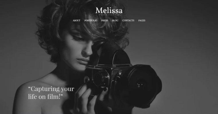 Black-And-White Elegant Portfolio WordPress Template