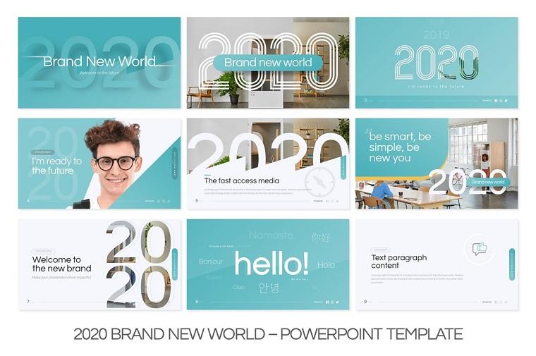 2020 New Brand Multipurpose Presentation PowerPoint Template