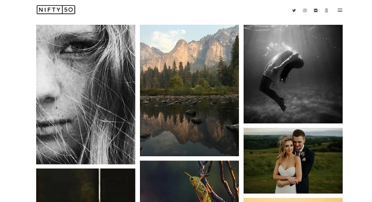 Nifty Fifty - Photography WordPress Theme.