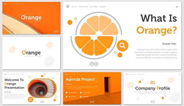 Orange Keynote Template