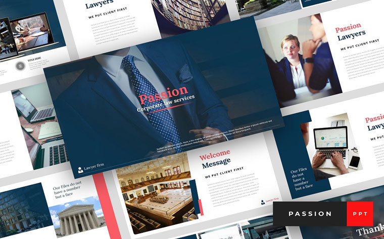 Passion - Lawyer Presentation PowerPoint Template