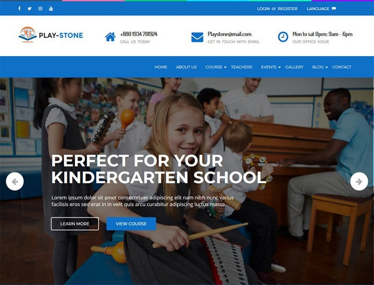 Playstone - Kindergarten & School WordPress Theme.