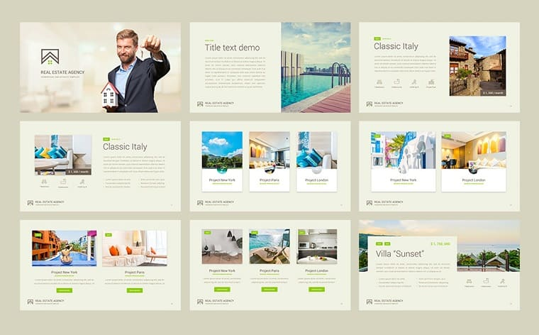 Real Estate Presentation PowerPoint Template.