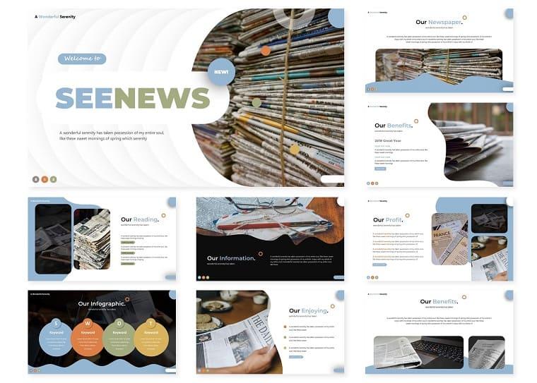 Seenews | PowerPoint Template