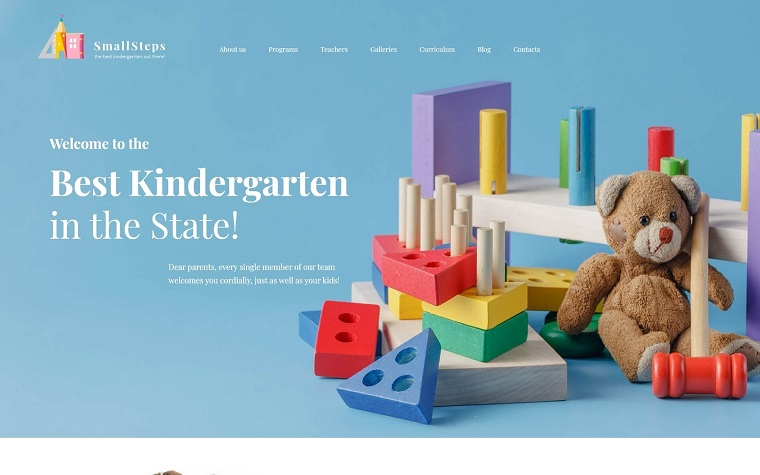 SmallSteps - Kindergarten Responsive WordPress Theme.