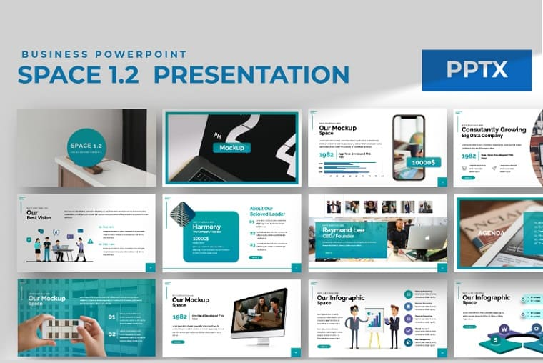 Space 1.2 PowerPoint Template.