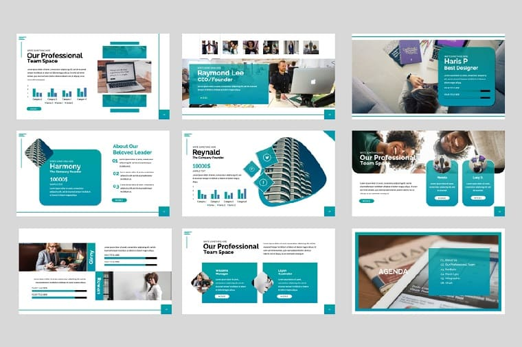 SPACE Presentation PowerPoint Template.