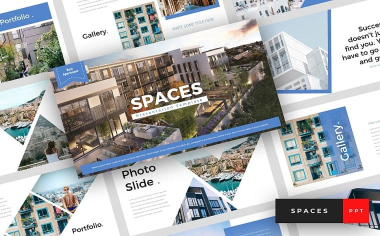 Spaces - Apartment PowerPoint Template.