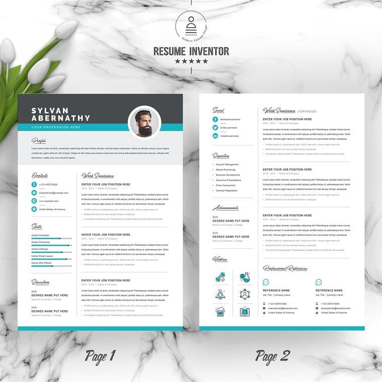 Sylvan Graphic Designer Resume Template