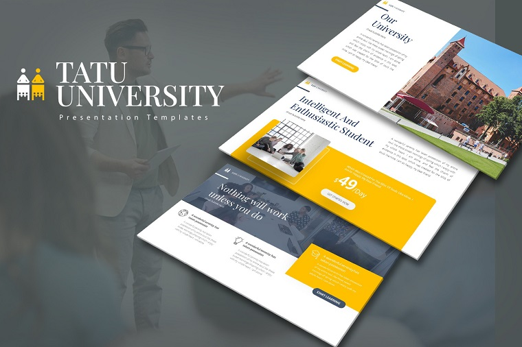 Tatu Uni Presentation PowerPoint Template for Different Activities