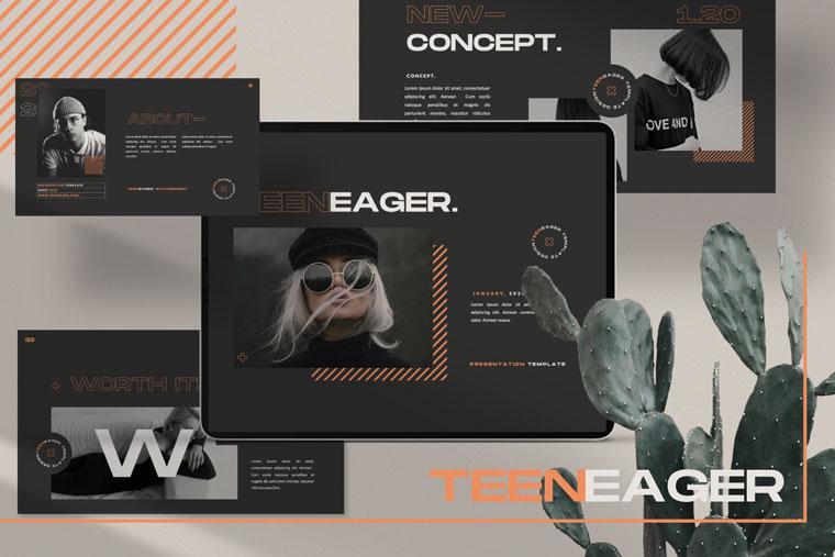 TEENEAGER Presentation Keynote Template