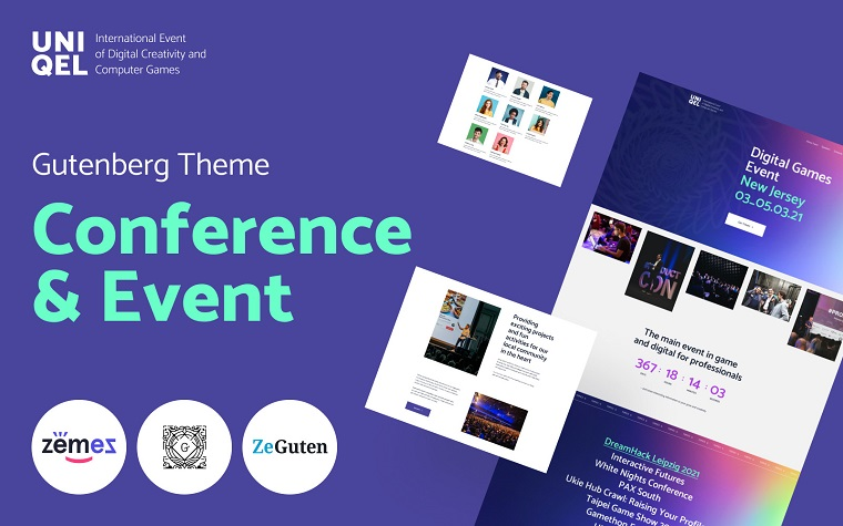 Uniqel - Conference and Event WordPress Theme.