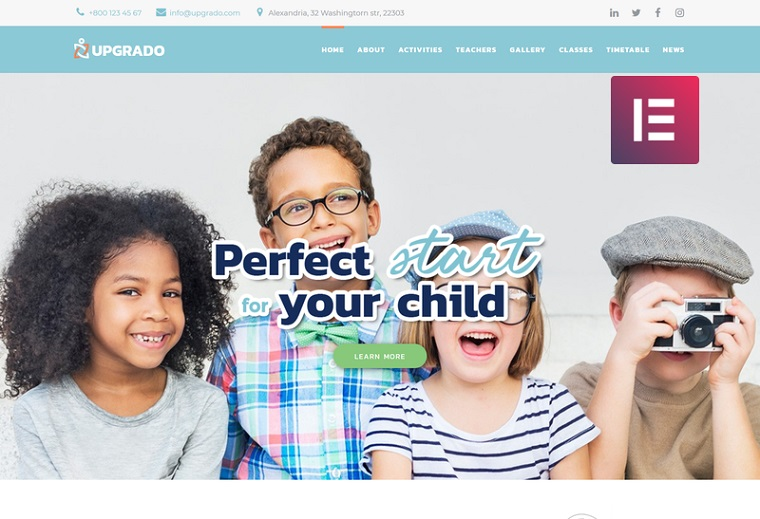 Upgrado - Education Kids Multipurpose Modern Elementor WordPress Theme.