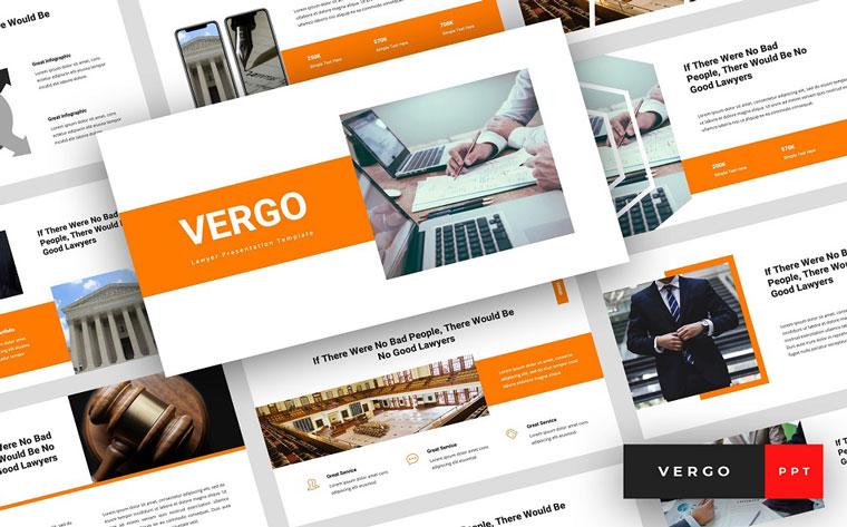 Vergo - Lawyer Presentation PowerPoint Template