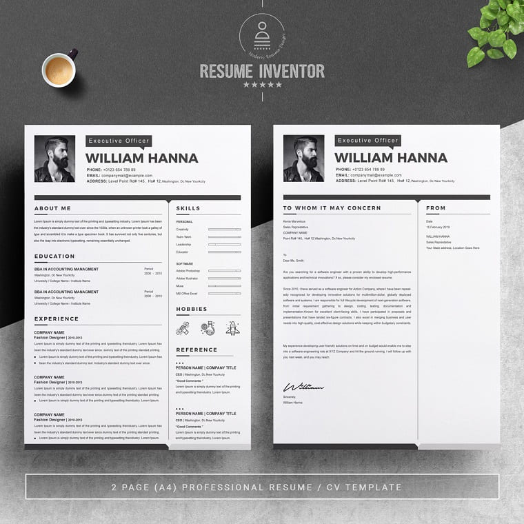 William Graphic designer Resume Template