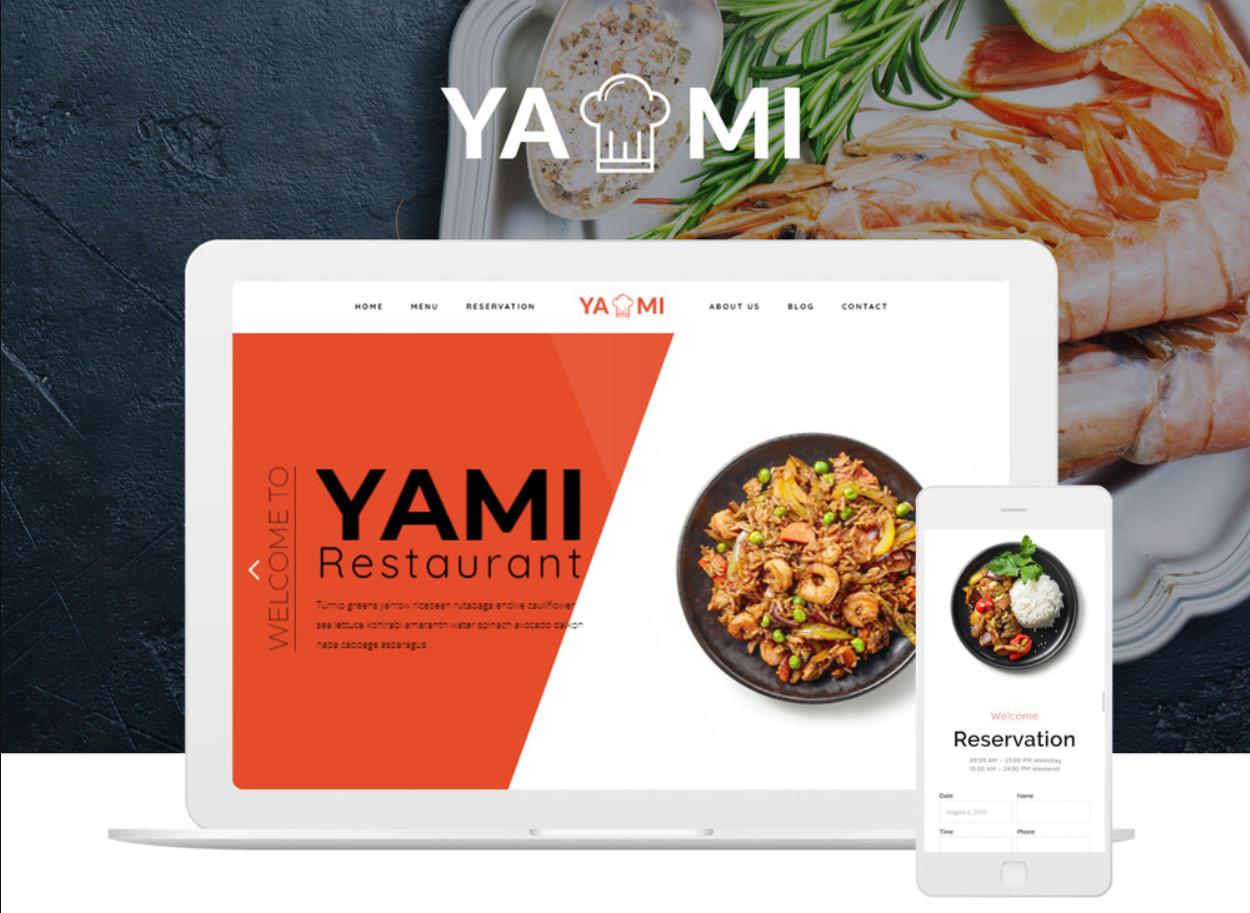 Yami - Foods & Restaurant Wordpress Theme WordPress Theme