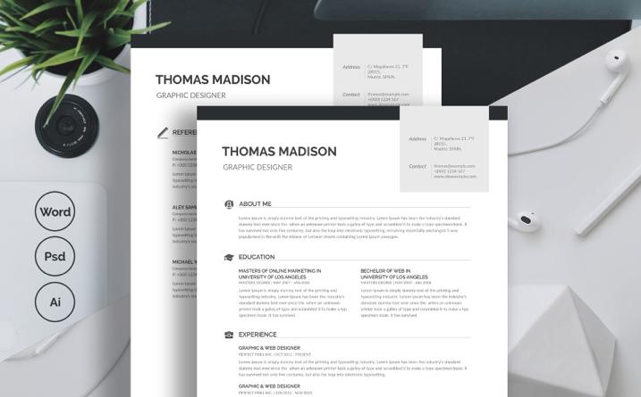 Thomas Madison Resume Template