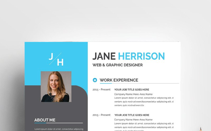Jane Professional CV Resume Template
