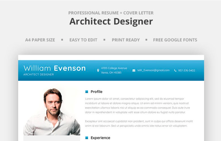 William Evenson - Architect Designer Resume Template