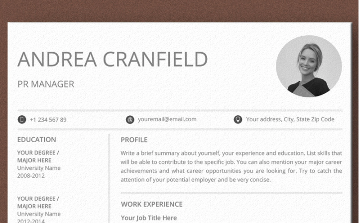 Andrea Cranfield Ms Word Resume Template