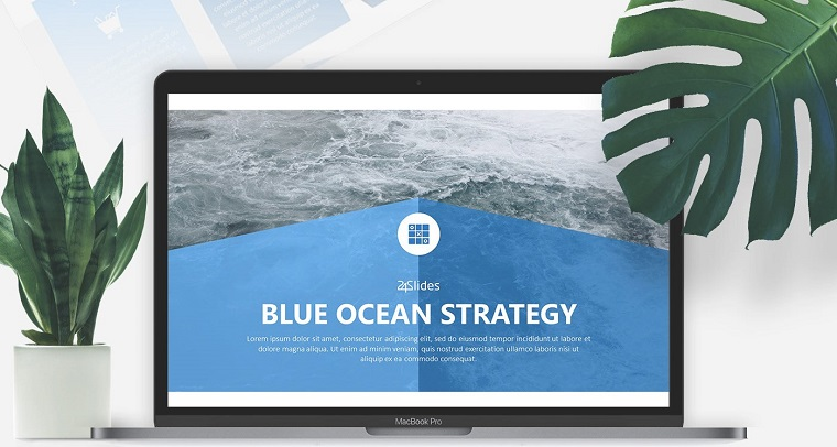 Blue ocean strategy PPT template